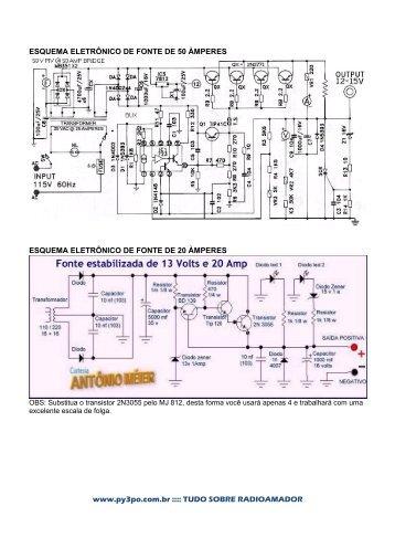 Esquemas de Fontes Vox Mike de Ganho e Antenas - PY3PO