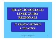bilancio sociale - Ufficio scolastico regionale per la Lombardia