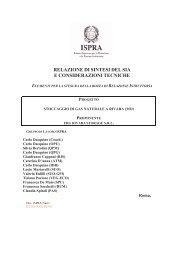 relazione ISPRA - Comune di San Felice sul Panaro