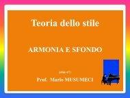 Stile I – 4 Armonia e Sfondo - Musica & Musicologia