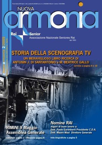 Armonia secondo numero anno 2009. - RAISENIOR
