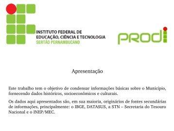 Custódia - Instituto Federal do Sertão Pernambucano