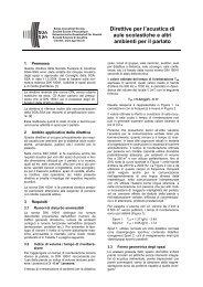 Direttive acustica di aule scolastiche - Schweizerische Gesellschaft ...