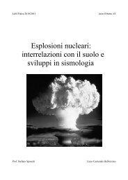 Esplosioni nucleari - Seismoatschool.ethz.ch