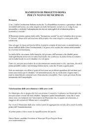 manifesto di progetto roma per un nuovo municipio ix - Matteo Marini