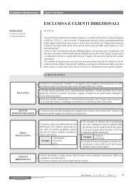 ESCLUSIVA E CLIENTI DIREZIONALI - Ratio