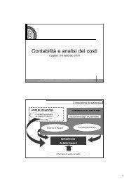 Contabilità e analisi dei costi - MCG