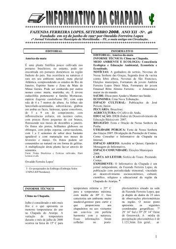 Edição n° 46 - Embrapa Solos / UEP Recife