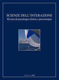 Scienze dell'Interazione anno 2009 n.1 - Scuola di specializzazione ...
