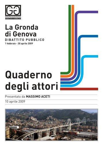 Quaderno inviato da Massimo Aceti - Urban Center Genova ...