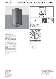 E Zylinder Faretto direzionale a plafone - Erco