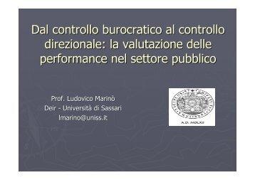 Dal controllo burocratico al controllo direzionale: la valutazione ...