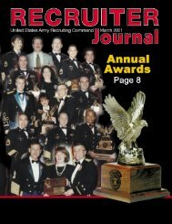 March Recruiter Journal - USAREC - U.S. Army