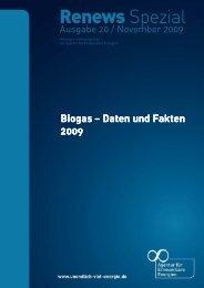 Biogas – Daten und Fakten Daten und Fakten 2009 - Agentur für ...