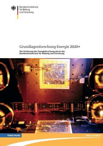 Grundlagenforschung Energie 2020+ - Cleaner Production Germany