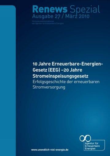 Renews Spezial 27 - Agentur für Erneuerbare Energien