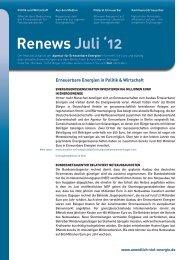 Renews Juli 2012 - Agentur für Erneuerbare Energien