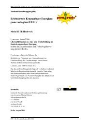 Powerado Übersicht Studien - Agentur für Erneuerbare Energien