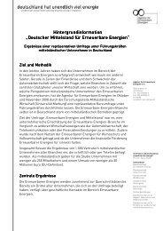 Hintergrundinformation Mittelstandsumfrage - Agentur für ...