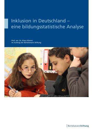 Inklusion in Deutschland - Bertelsmann Stiftung