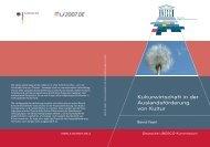 Kulturwirtschaft in der Auslandsförderung von Kultur (PDF) - Unesco