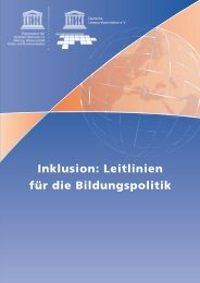 Inklusion: Leitlinien für die Bildungspolitik - Unesco