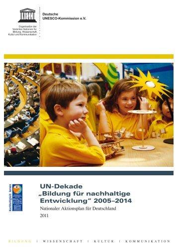 Nationaler Aktionsplan für Deutschland 2011 - Bildung für ...