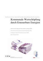 """Studie """"Kommunale Wertschöpfung durch Erneuerbare Energien"""""""