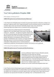 Von Volvic geförderte Projekte 2008 - Unesco