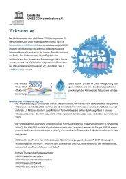 Weltwassertag - Unesco