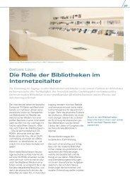 Die Rolle der Bibliotheken im Internetzeitalter - UNESCO Deutschland