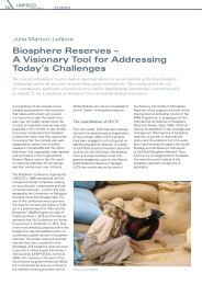 Biosphere Reserves – A Visionary Tool for Addressing Today's ...