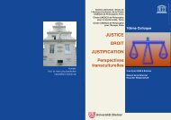 JUSTICE DROIT JUSTIFICATION Perspectives ... - Unesco
