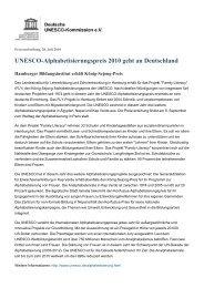 UNESCO-Alphabetisierungspreis 2010 geht an Deutschland