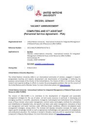 COMPUTING AND ICT ASSISTANT (Personnel Service Agreement ...