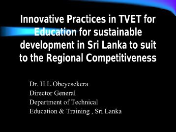 Innovative Practices in TVET for Education for ... - Unesco-Unevoc
