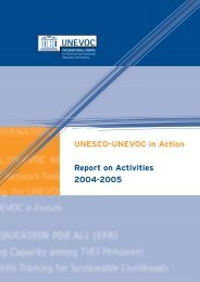 UNESCO-UNEVOC in Action