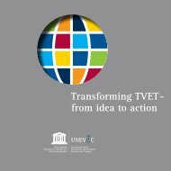 Transforming TVET - from idea to action. One ... - Unesco-Unevoc