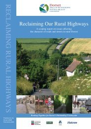 Reclaiming Our Rural Highways - the Dorset AONB