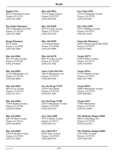 Anthem Blue Cross Pharmacy Directory - PharmacyWalls