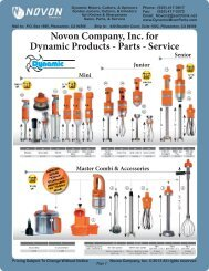 Novon Company, Inc. for Dynamic Products - Parts - Service