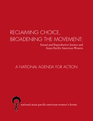 Reclaiming Choice, Broadening the Movement - National Asian ...