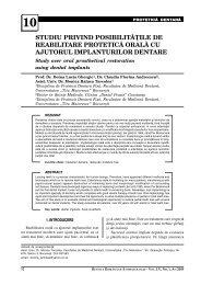 studiu privind posibilitåºile de reabilitare proteticå oralå ... - medica.ro