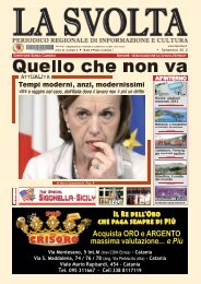 Settembre 2012 - Uscita Mensile - La Svolta Editrice