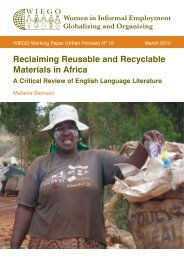 Reclaiming Reusable and Recyclable Materials in Africa - WIEGO