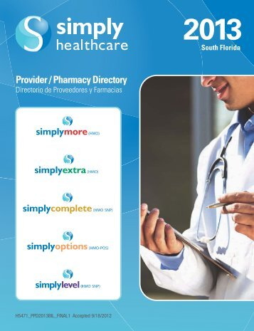 SFL HMO DIR_MAY 2013.pdf - Simply Healthcare Plans
