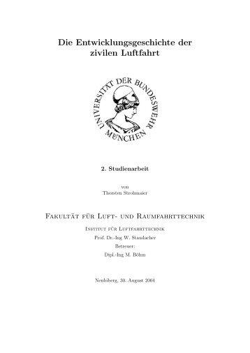 Entwicklungsgeschichte der zivilen Luftfahrt
