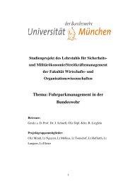Thema: Fuhrparkmanagement in der Bundeswehr
