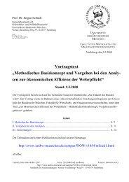Methodisches Basiskonzept und Vorgehen bei den ... - UniBwM