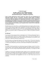Aufwachsen im Süd-Sudan - Unicef